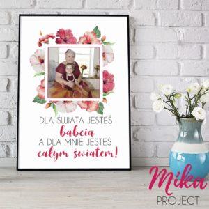 dzień babci plakat okolicznościowy ze zdjęciem do druku