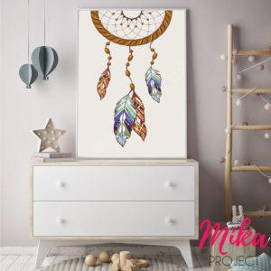 obrazek, plakat do pokoju dziecięcego łapacz snów mika project