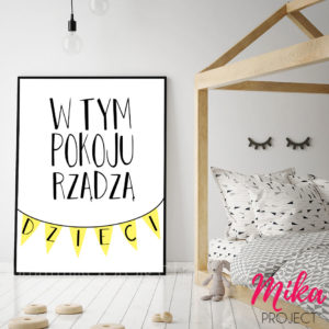plakat, obrazek do pokoju dziecięcego do druku dzieci rządzą mika project