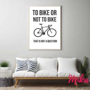 plakaty obrazki z napisami rower mika project