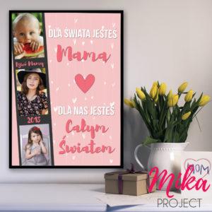 Dzień Mamy prezent plakat z ramką ze zdjęciem