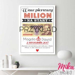 Oryginalny prezent ślubny plakat z napisami mika project