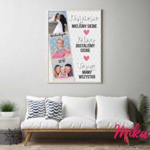 Oryginalny prezent na walentynki plakat z napisami mika project