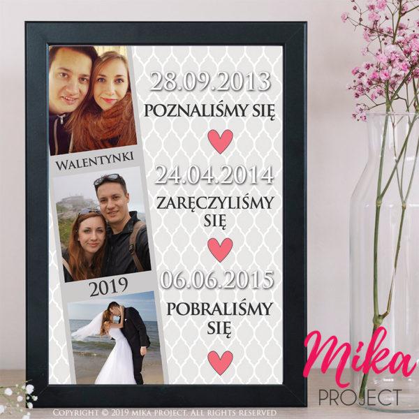 prezent na walentynki ze zdjęciami i datami mika project