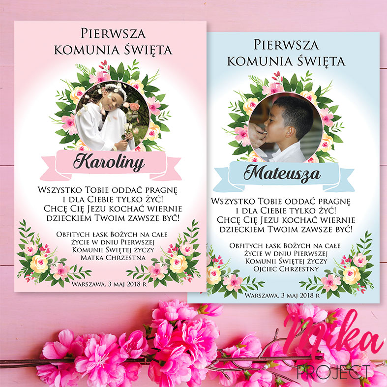 575699edb196f Pamiątka Pierwszej Komunii Świętej, prezent dla dziecka - Mika Project