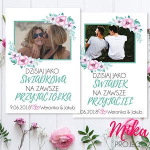 Podziękowanie na ślub ze zdjęcie, plakat obrazek prezent na wesele