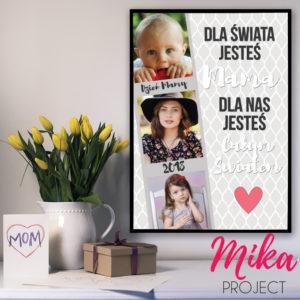 Prezent na Dzień Mamy plakat z ramką ze zdjęciem Mika Project