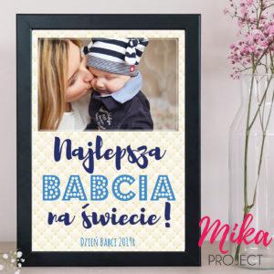 prezent plakat najlepsza babcia na świecie ze zdjęciem mika project