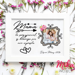 prezent dzień matki plakat ze zdjęciem