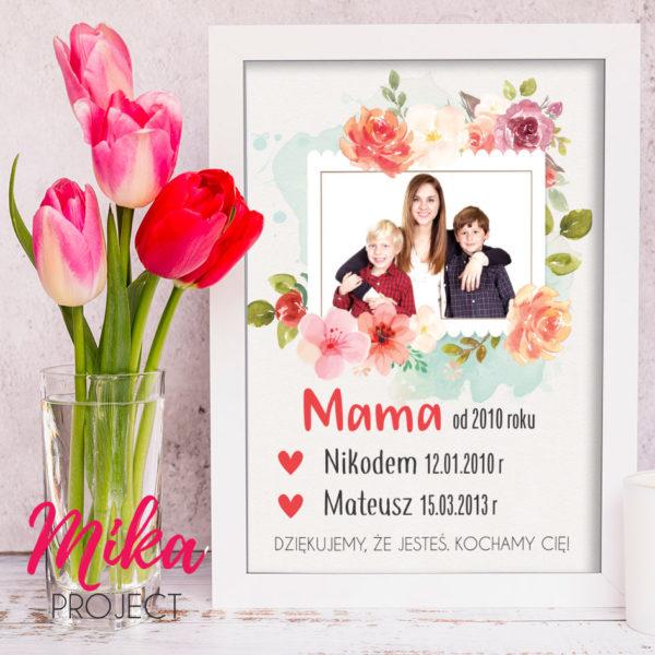 prezent dzień matki plakat ze zdjęciem mika project