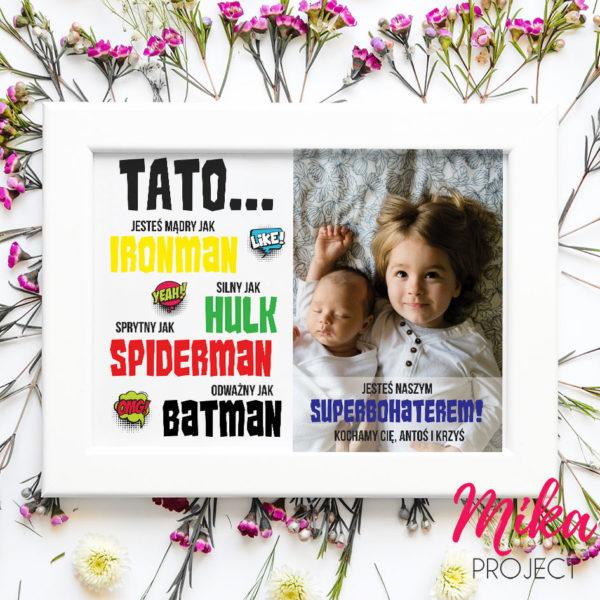 prezent na dzień taty plakat mika project