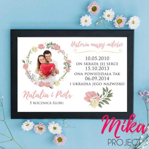 prezent na rocznicę ślubu plakat mika project