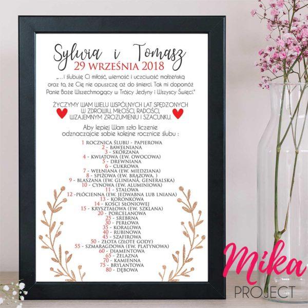 prezent na każdą rocznicę ślubu mika project