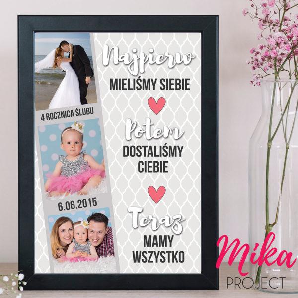 spersonalizowany prezent na rocznicę ślubu mika project
