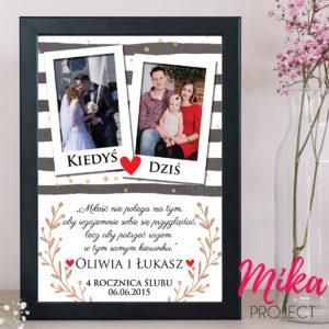 Prezent na rocznicę ślubu ze zdjęciem plakat