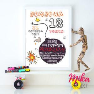 prezent na 18 urodziny plakat mika project