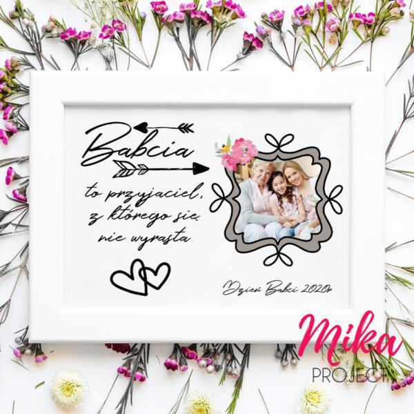 Prezent na Dzień Babci plakat ze zdjęciem