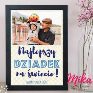 Prezent dla Dziadka plakat ze zdjęciem