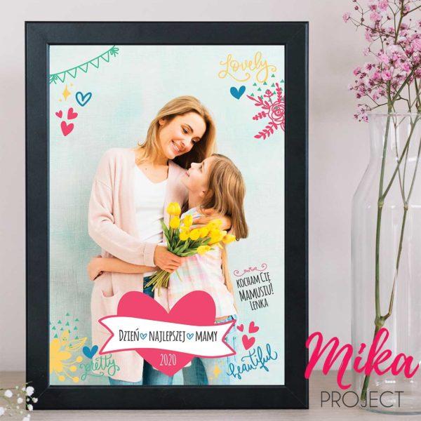 Prezent dla mamy, spersonalizowany plakat ze zdjęciem Mika Project