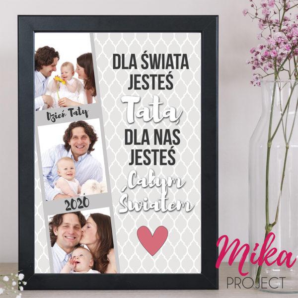 Prezent na Dzień Ojca Plakat ze zdjęciem dla Taty Mika Project